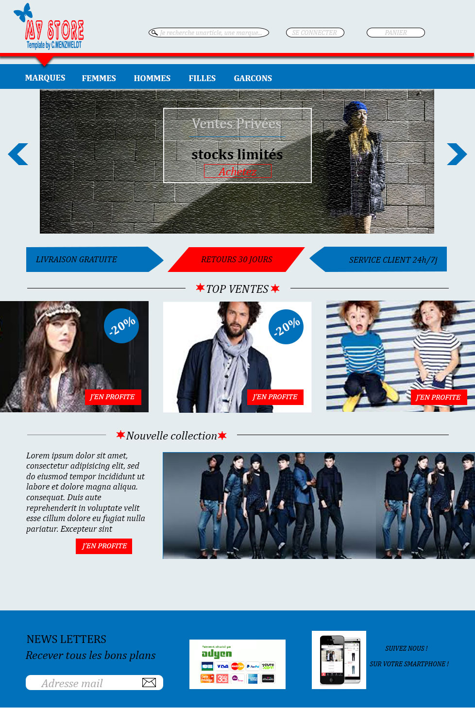 Template site marchand.